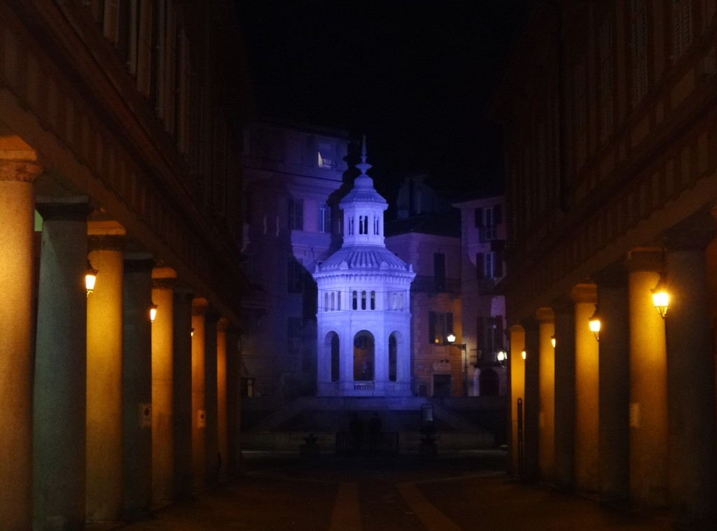 Piedmont places to visit - Acqui Terme by night