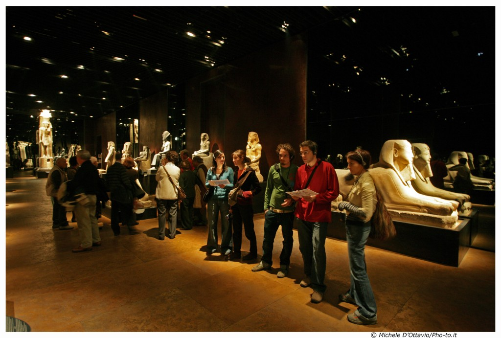 things to do in turin - interior of Turin Egyptian Museum