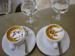 Coffee art in Turin