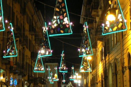turin arts includes the Luci d' Artista with light decorations installed throughout the city