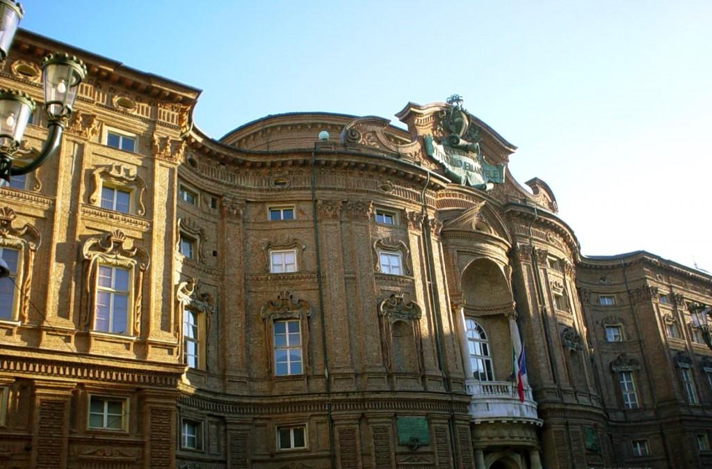 Palazzo Carignano in Turin which can be found in Piazza Carignano