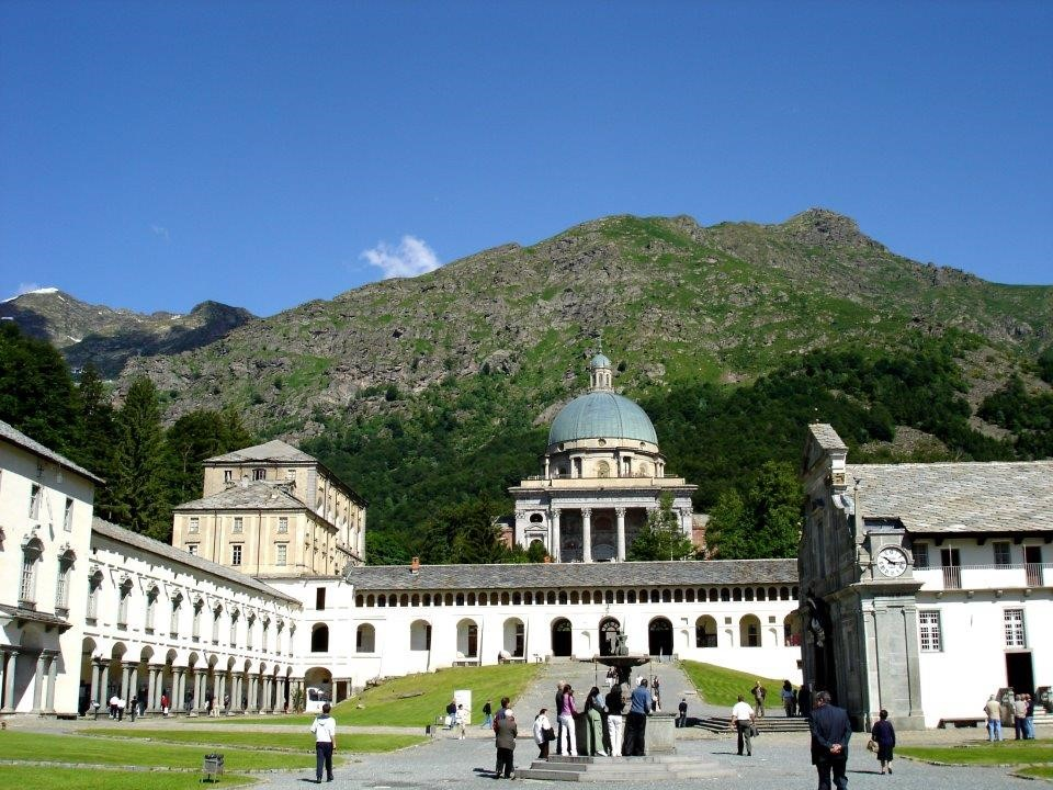 Santuario di Oropa in the Piedmont region is a magnificent sanctuary in the mountains