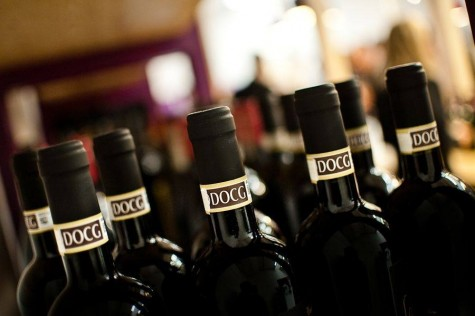 Piedmont red wines - a bunch of wine bottles