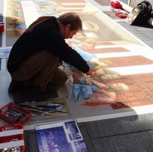 artist - street artist in turin