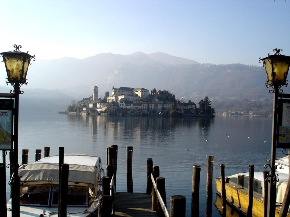 view of Lake Orta in the Piedmont region which is another place to visit