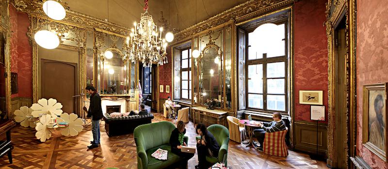 Circolo dei Lettori interior of reading and games room