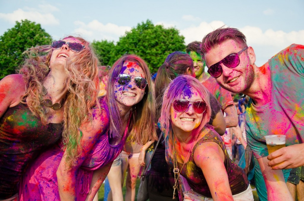 Holi fusion Festival of colourful people