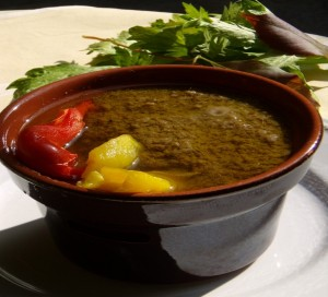 Bagna Cauda with peppers