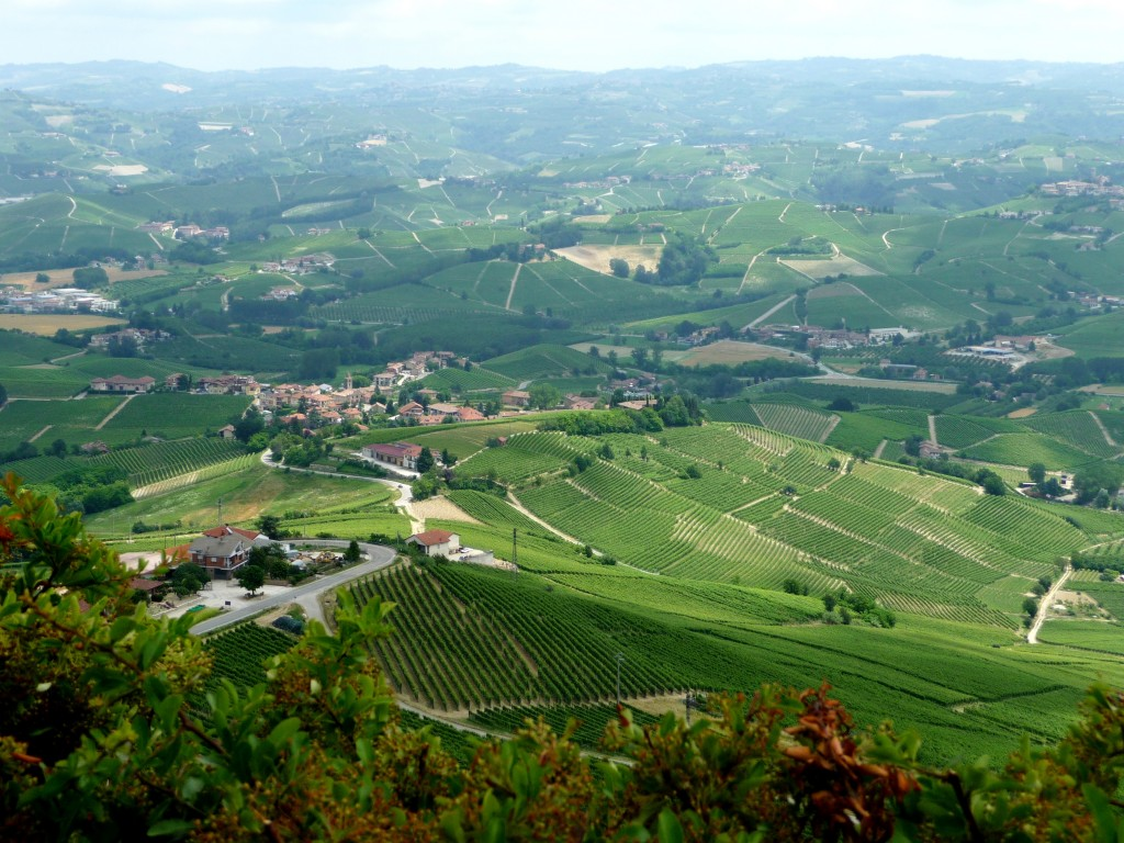 La Morra Piedmont, Italy along piedmont's wine roads