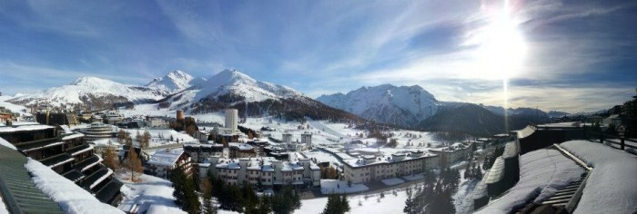 Sestriere panorama - a place for skiing in Piedmont