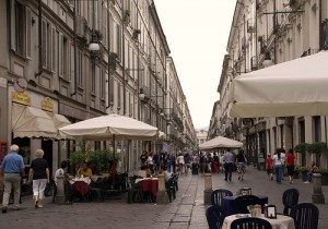 Via Garibaldi - street in Turin