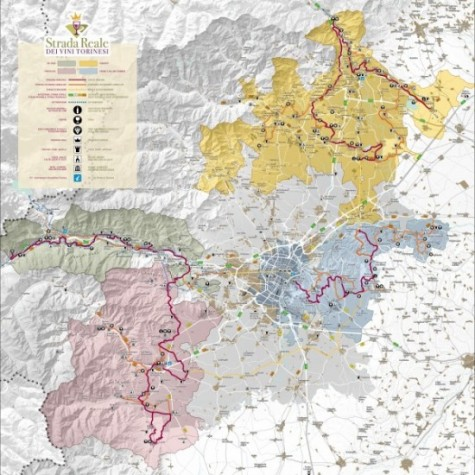The Royal Wine Road of Torinese Map