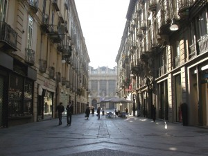 Via Garibaldi - shopping street in Turin
