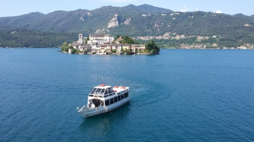 Lake Orta in Piedmont - Taking the boat to the island of San Giulio