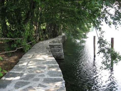 Lakeside path at Lake Orta