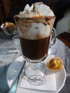 Bicerin a delicious coffee and chocolate drink found in Turin - something to order with the merenda reale