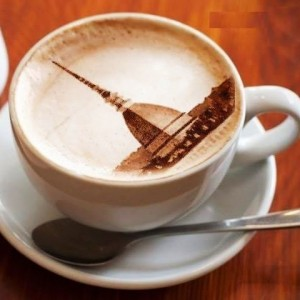 coffee with Mole design in the froth