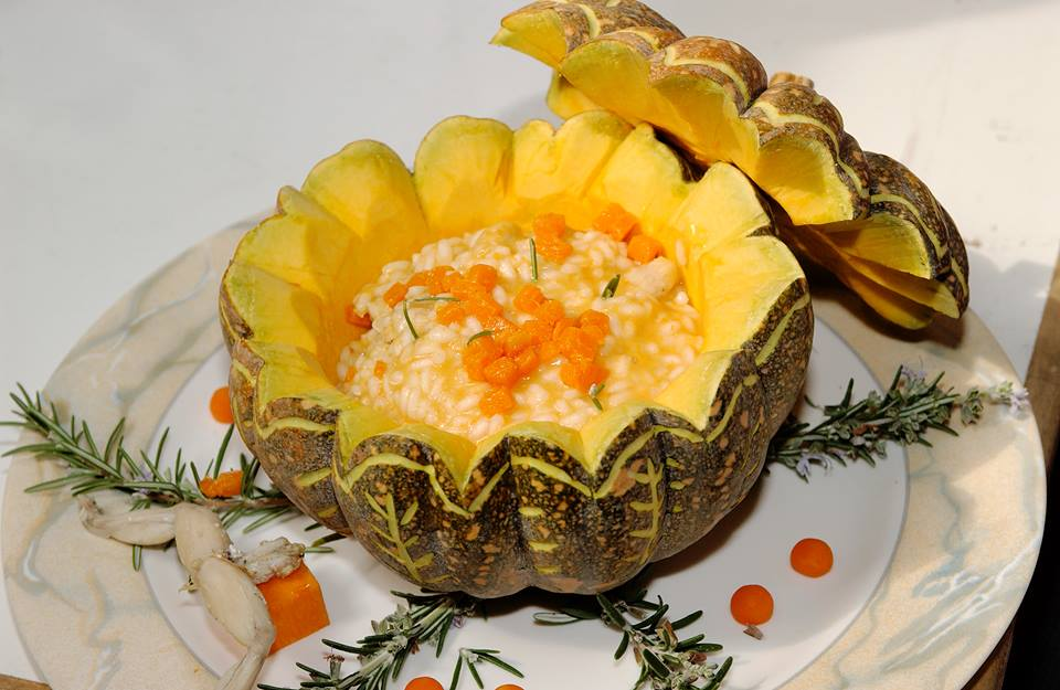 risotto with pumpkin Strada del Riso Vercellese di Qualita