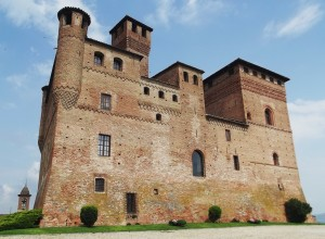 Grinzane Cavour castle in Piedmont Italy