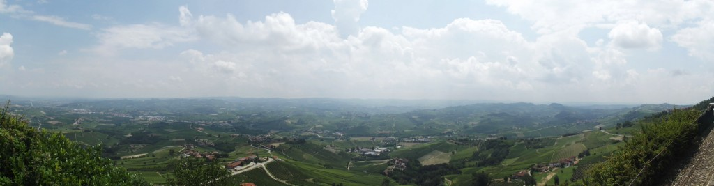 Panorama from La Morra in the Langhe