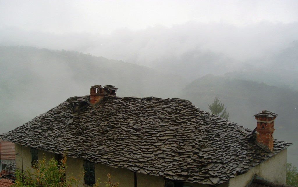 …traditional stone roofs in the clouds