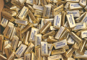 Gianduiotti chocolates - great souvenirs from Piedmont
