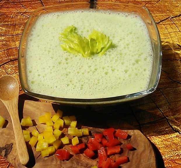 Chilled Green Pepper soup