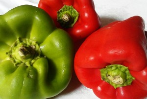 green and red italian peppers