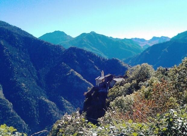 Valle Maira, Cuneo, Piedmont mountain village