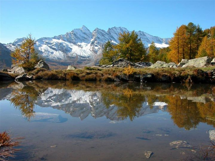 Parco Nazionale Gran Paradiso - mountain and crystal clear lake in Gran Paradiso National Park