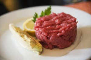 foodies guide to piedmont - Carne Cruda organic raw chopped beef photo by John Rizzo