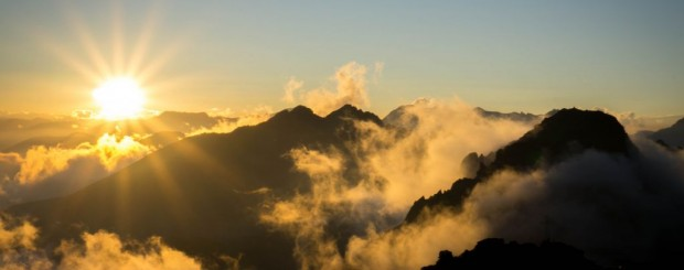 sunrise and mountains in Gran Paradiso National Park
