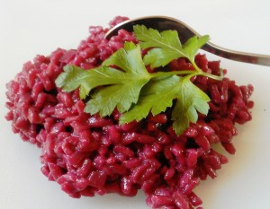Barolo risotto with spoon ready to eat