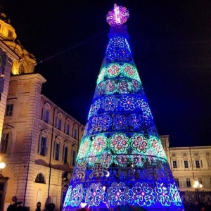 Christmas tree in Piazza Castello