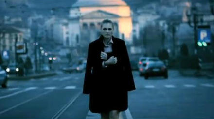 Piedmont in music videos - Subsonica Lady standing in street in front of Gran Madre church in Turin, the capital of Piedmont