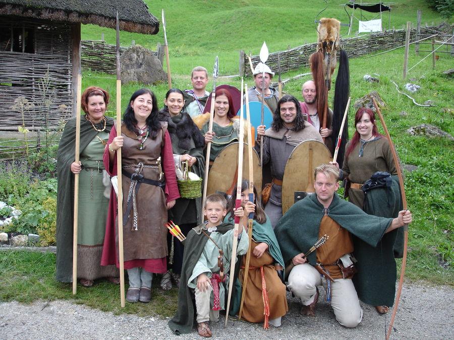 Irish Festival - Irish village with people in traditional Irish costume