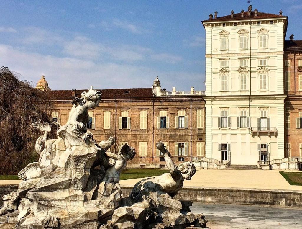 Turin's Royal Gardens - the fountain of Triton