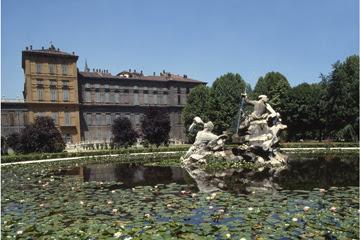 Turin's Royal Gardens - Fontana dei Tritorni in the past