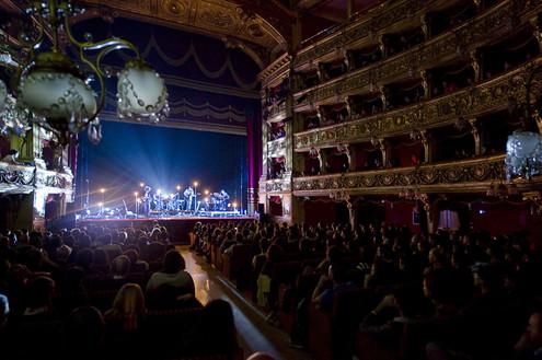 turin music festivals - Club2Club - Teatro Carignano photo of crowd and musicians