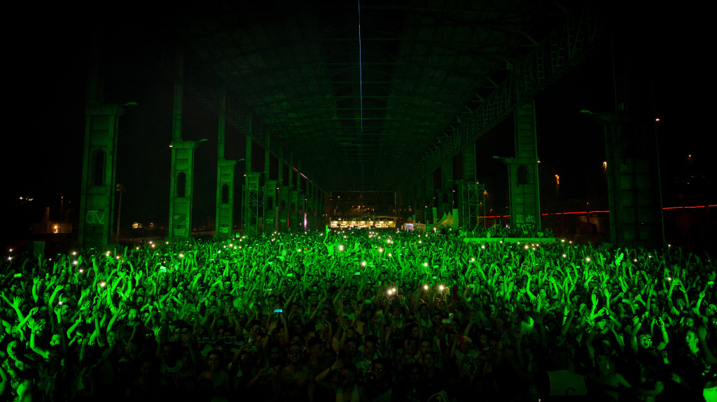 Electronic music Kappa festival at night crowd photo