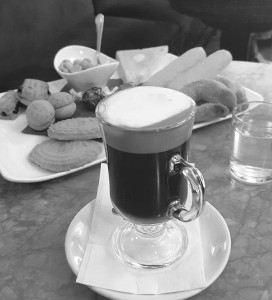 Merenda Reale at Pepinos consists of hot chocolate drink and sweets