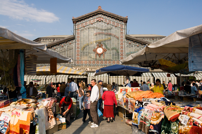 Shopping in Turin includes the area of Porta Palazzo, a Turin food and flea market