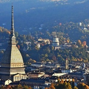 exterior view of the Mole with Turin landscape city view