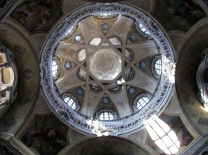 Cupola San Lorenzo in Turin Italy, an example of Turin's architecture