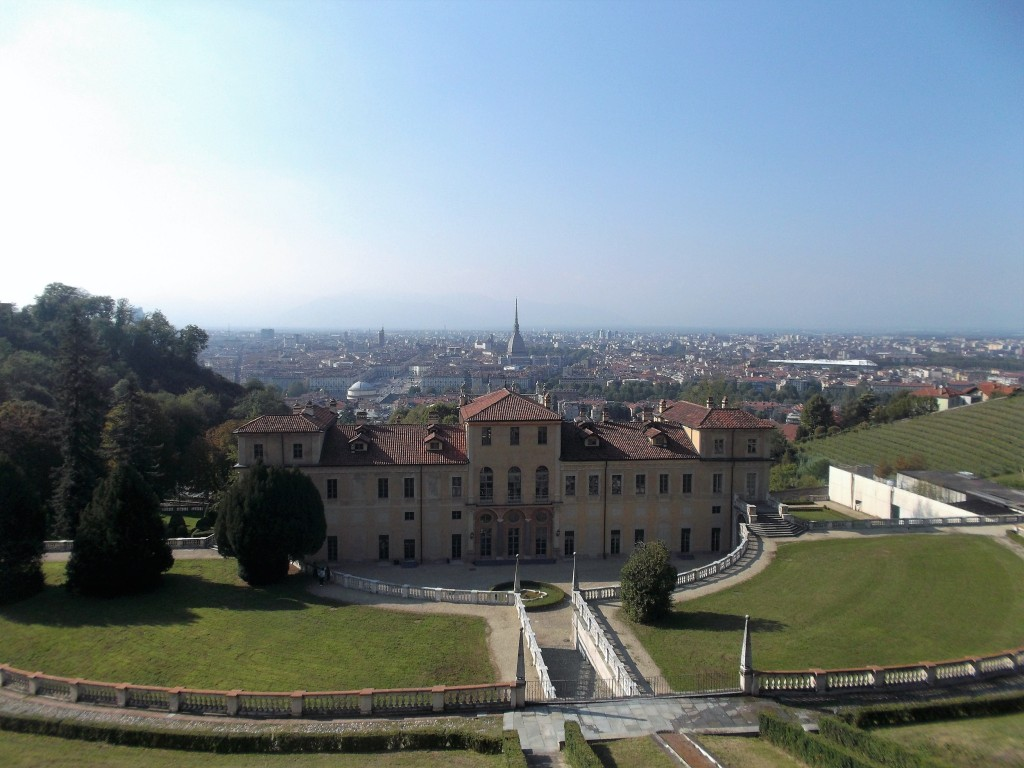 Villa della Regina on hill overlooking Turin