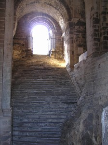 Sacra di San Michele stairs