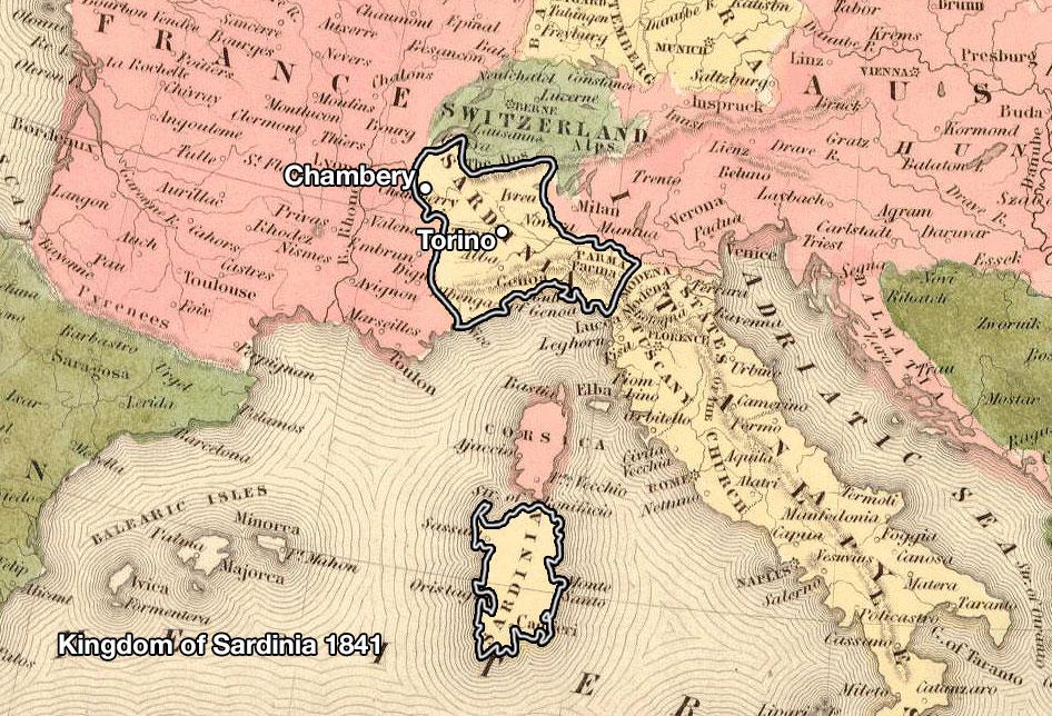 Vermouth production map - Kingdom of Sardinia
