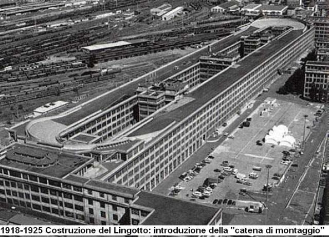 Lingotto Factory vintage photo - aerial view of the FIATLingotto factory