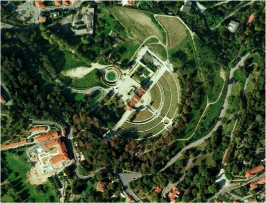 Villa della Regina - aerial view