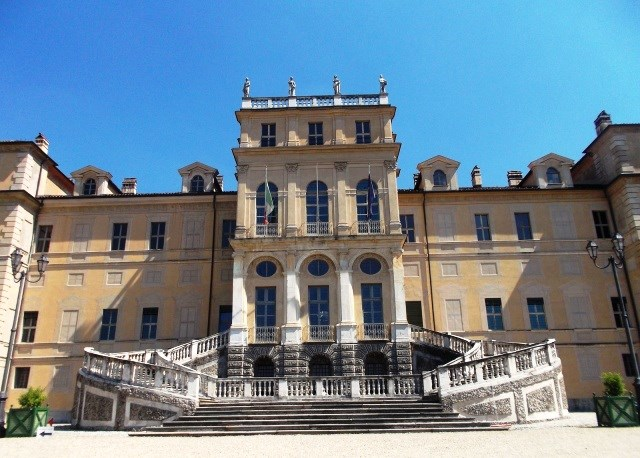 Villa della Regina in Turin - the exterior main entry with grand staircase